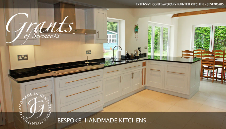 Extensive contemporary painted kitchen - Sevenoaks